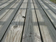 Wood deck pressure cleaning